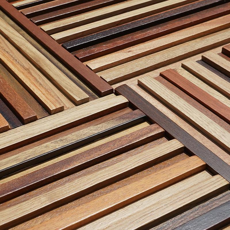 实木马赛克茶室背景墙装饰细条木线条茶室咖啡店面服装店装饰木条
