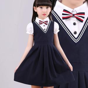 儿童短袖连衣裙学院风女童公主裙