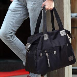尼龙帆布包韩版男包商务休闲手提包大容量男士旅行包单肩包斜挎包