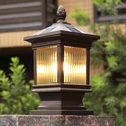 太阳能围墙柱头灯中式家用户外大门灯室外防水别墅庭院景观门柱灯