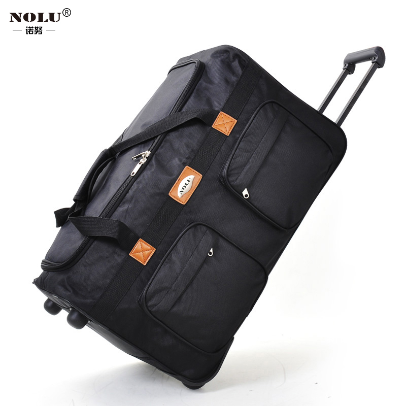 Large capacity Oxford cloth luggage travel trolley case 158 air checked bag 32 inch folding overseas moving men and women