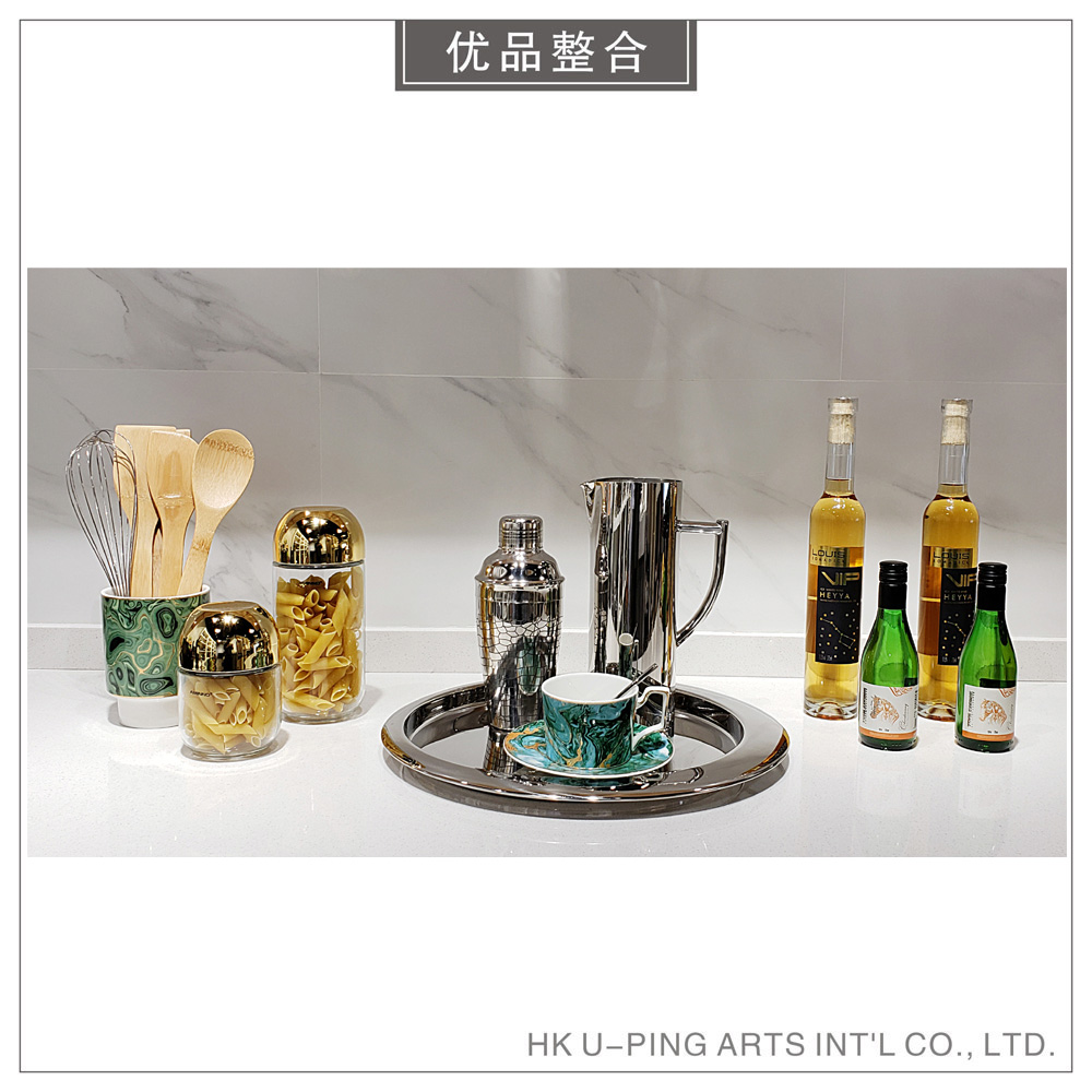 Modern simple model room creative soft decoration home kitchen decoration wine tray decoration combination zh1877