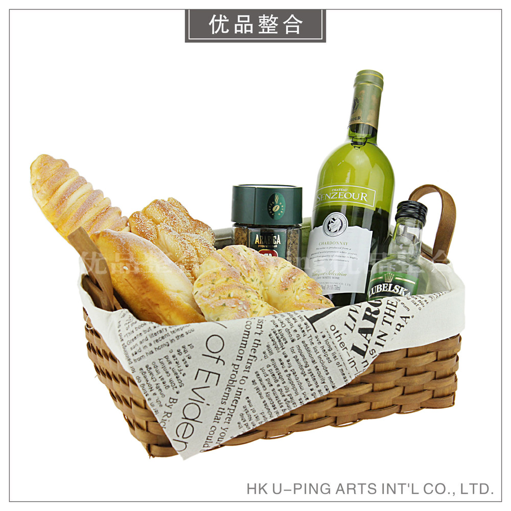 Modern simple model room soft decoration home kitchen props wine simulation bread creative decorations zh1058