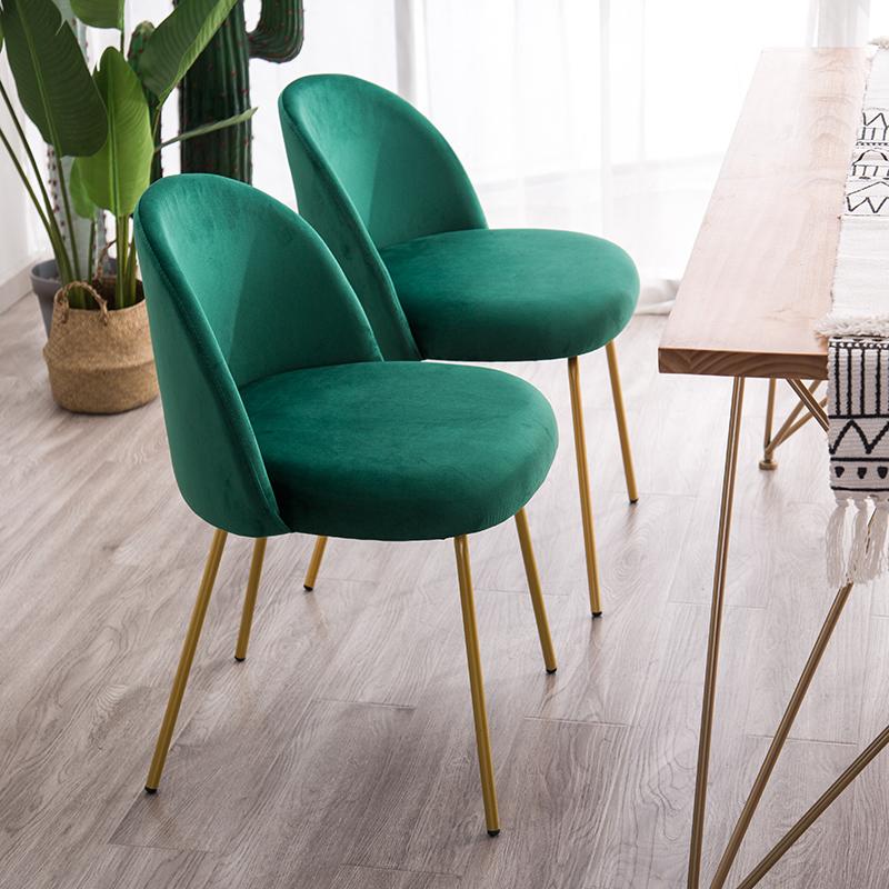 北歐椅子靠背懶人休閑鐵藝輕奢餐椅網紅款衣服店小沙發單人化妝椅