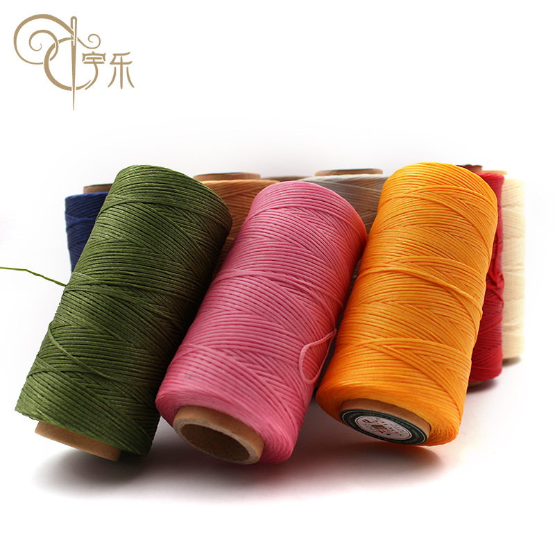 Yule DIY special hand sewing thread for hand leather goods high quality flat wax thread 150D Necklace woven wax thread