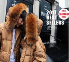 冬季棉服女中长款2017新款加厚百搭面包服韩版宽松bf学生毛领棉袄