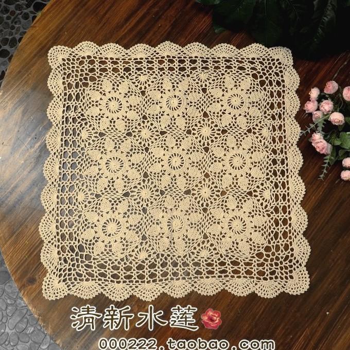 Рука вязания крючком цветок диван полотенце хлопка сплетенный ажурный ткань скатерть полотенце 50 ~ 120 универсальные покрытия м/белый
