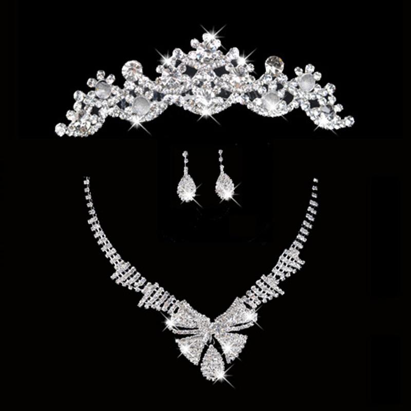Мед это Брак 2014 новый горный хрусталь императорская корона ожерелье, серьги установите популярность пакет платья императорская корона ожерелье