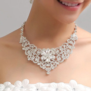 New wedding dress accessories from high-end jewelry Necklace Earring jewelry chain necklace necklace-