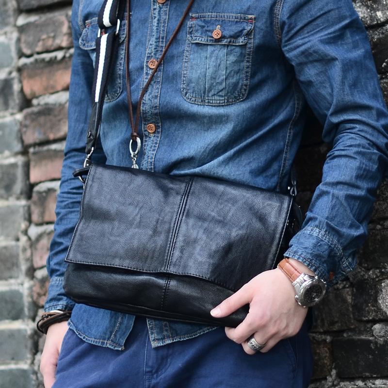 Мужчины маленький кожаный iPad мешок город мальчик baodan плечо Crossbody мешок мягкой кожи досуга мужчин и женщин корейской версии небольших пачек сигарет пакетов