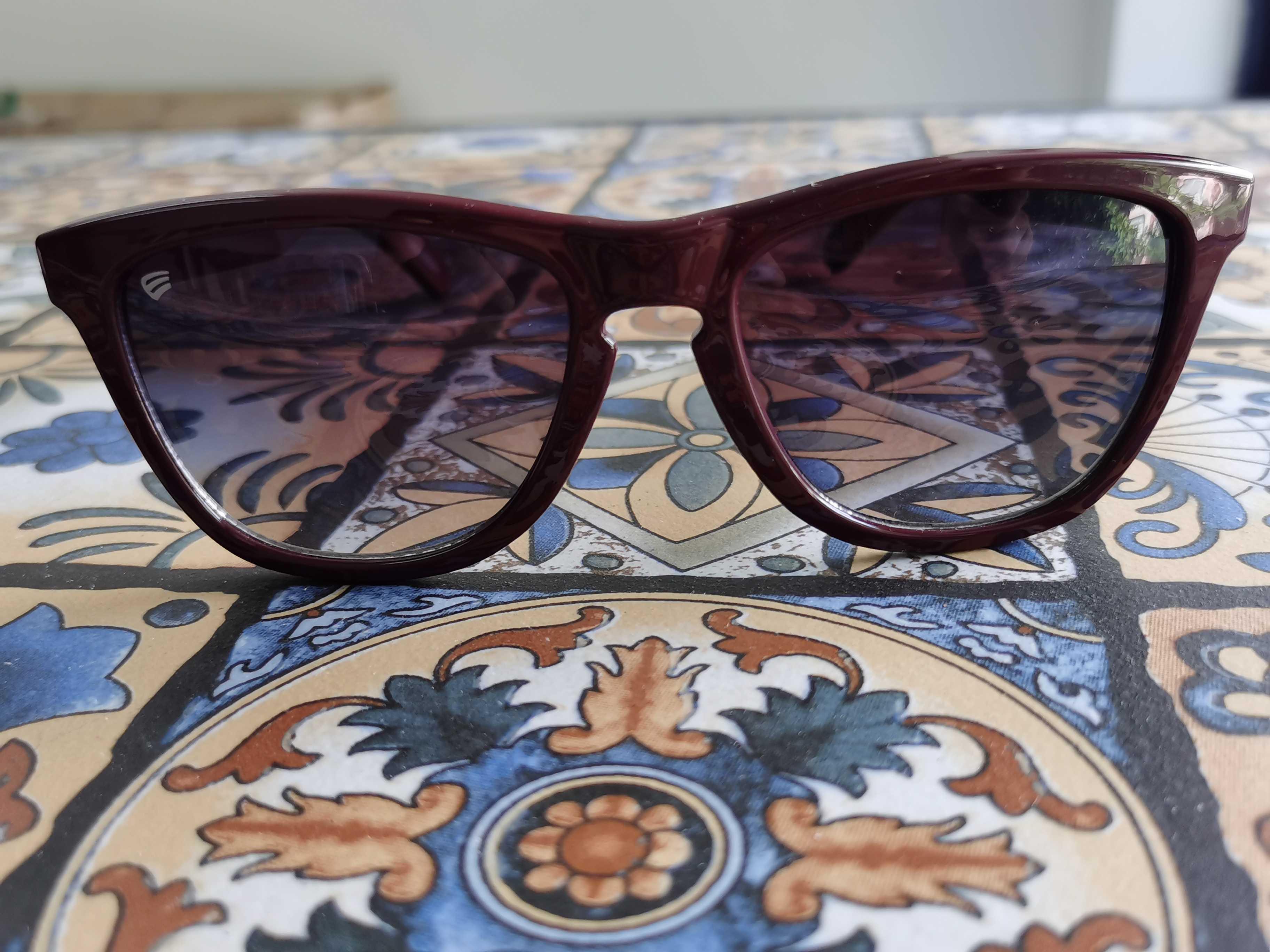 酒红色复古镜框咖色渐变色镜片休闲太阳眼镜墨镜外贸品相捡漏