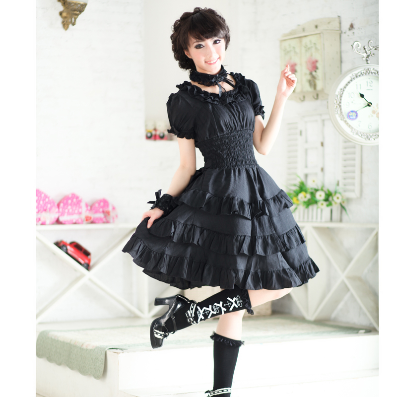 New GLP lovely Lolita solid layered Ruffle Dress 81120
