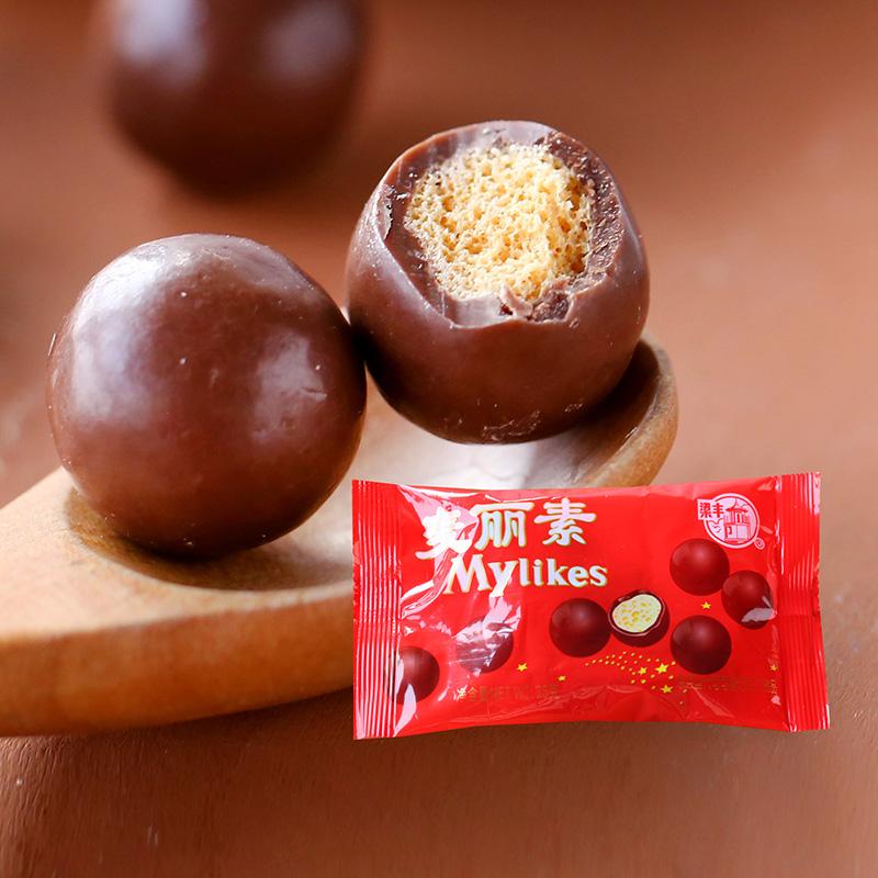 临期特卖 特怡诗冻干整粒草莓麦丽素夹心巧克力糖果零食休闲小吃