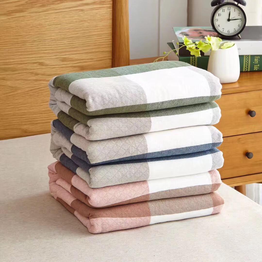 佰楽タオルは純綿の毛布とガーゼの毛布によってエアコンの毛布の全綿のシングルペアで昼寝をする毛布です。