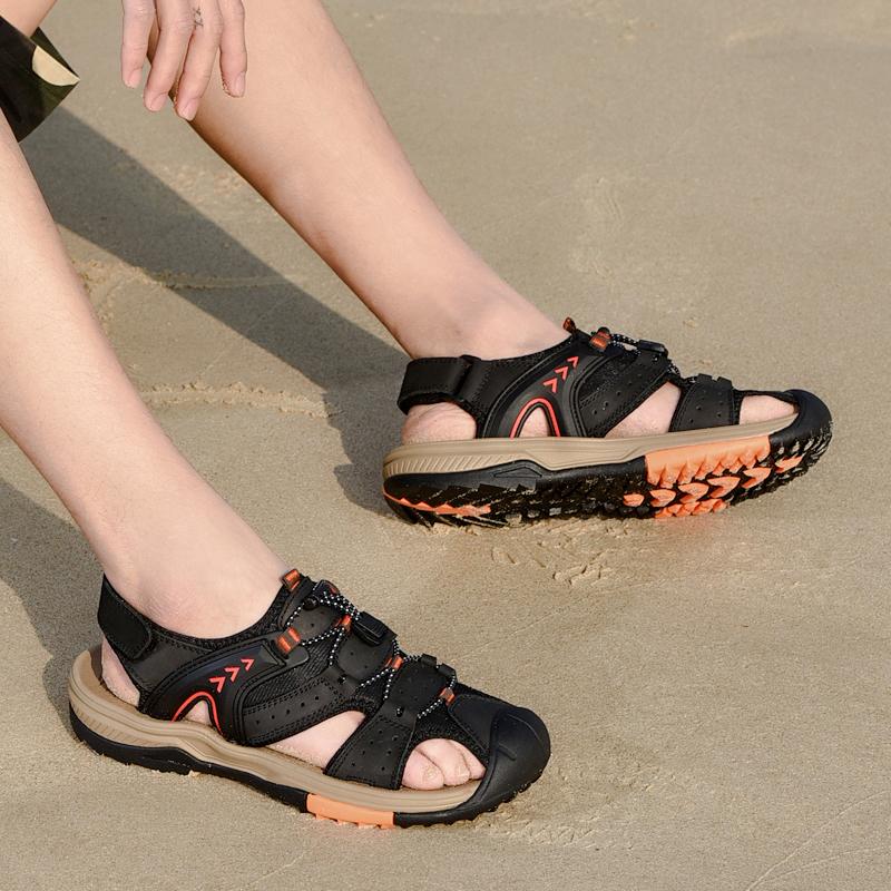 ヒッピー男子靴2020夏本革サンダル男性バッグビーチ靴アウトドア厚底サンダル外用ファッション