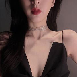 网红项链女潮脖子饰品锁骨链短款颈带简约气质颈链项圈小众颈饰图片