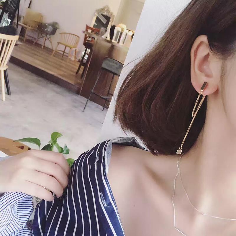 限100000张券气质长款2019新款潮高级感法式耳环