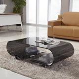 小移动时尚玻璃茶几简易茶桌创意简约现代带轮小桌子客厅办公家具