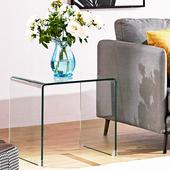 客厅玻璃角几沙发边几电话几飘窗正方形小茶几床头柜简约现代边柜