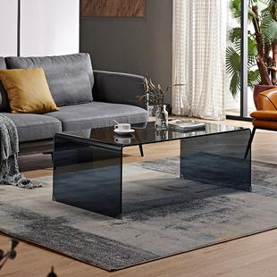 长方形茶机桌小户型茶几简约现代迷你办公室 茶几玻璃简约客厅个性