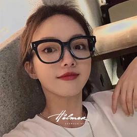 防蓝光眼镜男女通用 黑框复古手机电脑平光护目眼镜