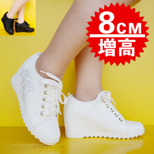 2015 Korean fashion women's elevator shoes elevator shoes casual shoes Women's Shoes Ms. invisible student 8 cm