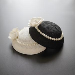 出口复古优雅帽子英伦名媛儿童小礼帽女珍珠头饰蕾丝旗袍宴会礼服