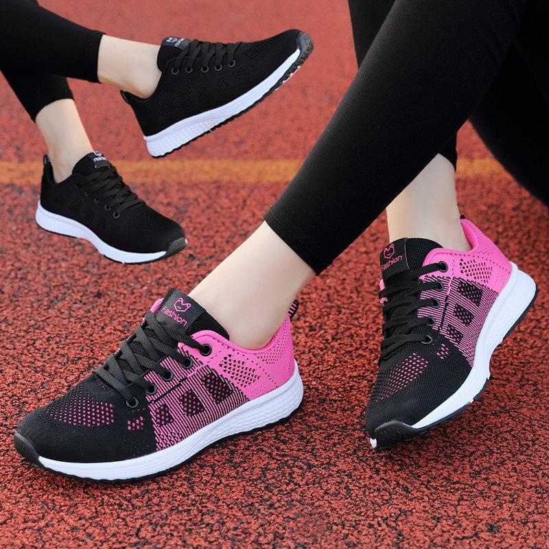 秋季新款回力女鞋运动鞋网面透气跑步鞋轻便旅游鞋女学生软底休闲限5000张券