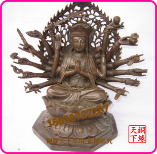 Open light copper Tibetan Buddhist goddess statues bronze statues religious supplies boutique copper handicrafts wholesale custom