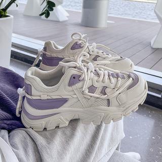 鮀品老爹ins潮透气爆款2021年新款秋季小众原创运动显小休闲女鞋
