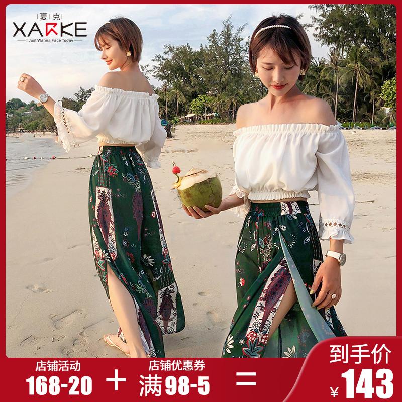 泳衣女仙女范韩国ins风遮肚显瘦分体小清新两件套雪纺长裙沙滩裙