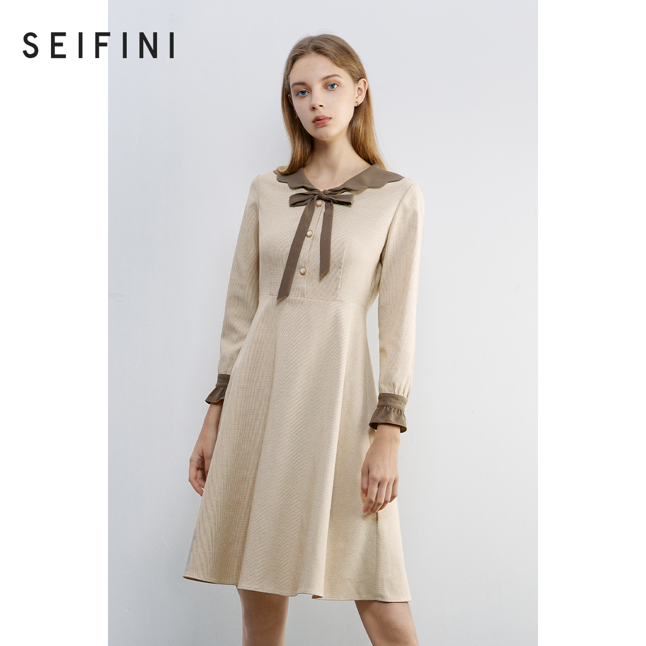 Shopping mall same style poetry Fanli dress women 2020 new autumn plaid British style skirt 3B9192081