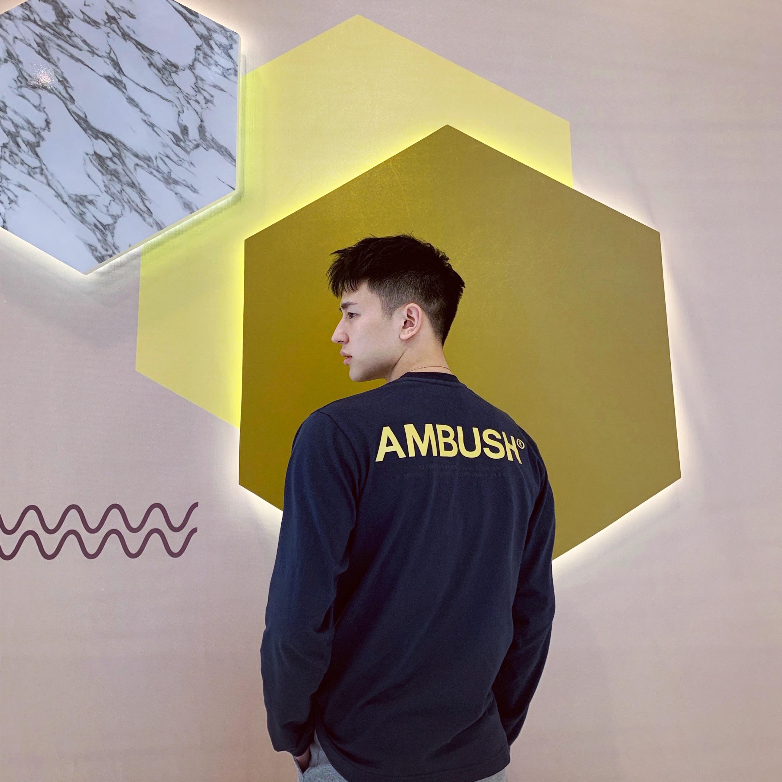 11月28日最新优惠ZT原创AMBUSH 19SS 纯色字母长袖橙色反光宽松T恤情侣同款男女