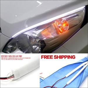 汽车装饰LED灯眉外饰车用装潢配件用品宝马新3系5系X1改装专用