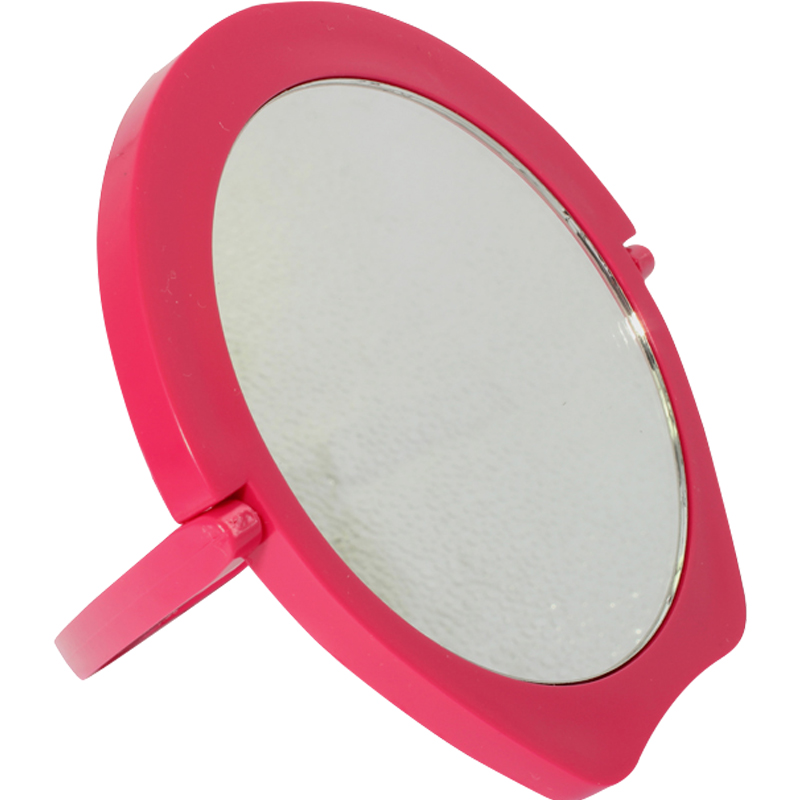 丝妍化妆镜专柜甜美可爱便携随身镜圆形美容镜美容工具折叠小镜子