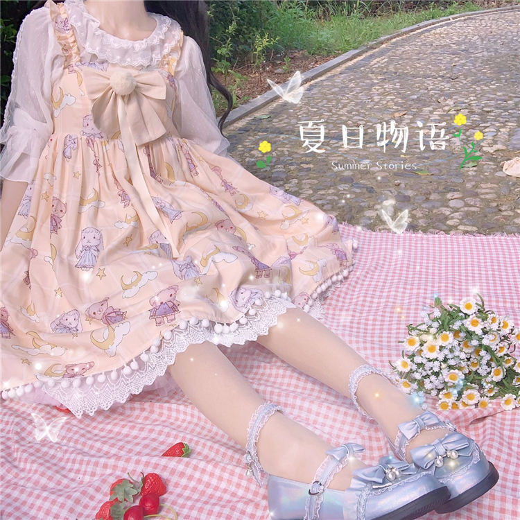 A little sweet full appointment Lolita shoes fairy princess shoes original four seasons Lo shoes with small skirt