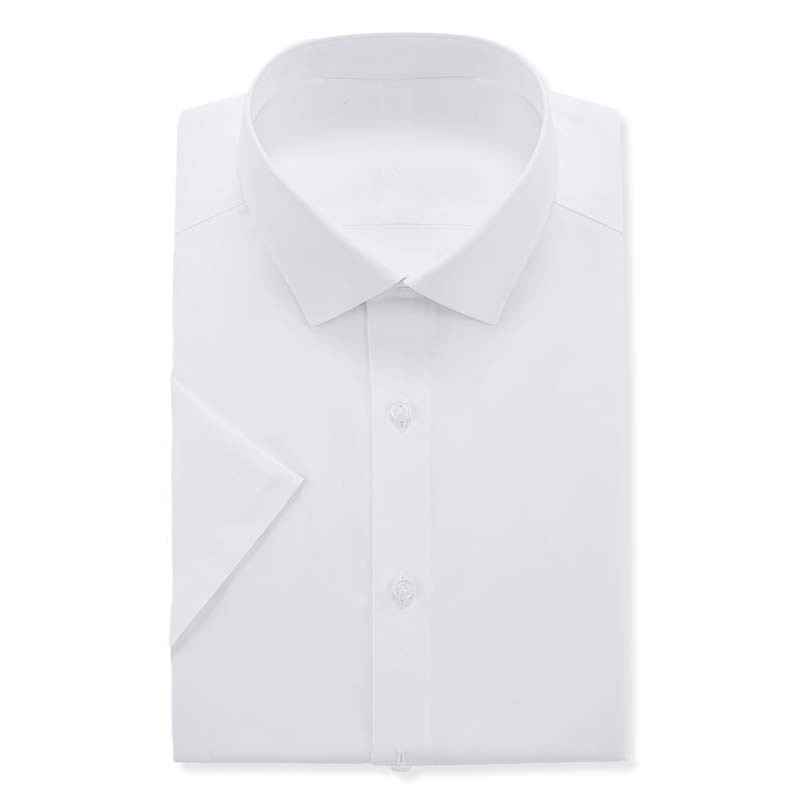 Vanke Chengpin jiguowu short sleeve shirt easy to wear business pure cotton white shirt mens half sleeve comfortable in summer