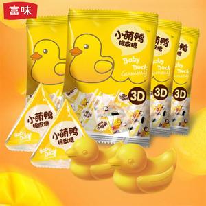 富味呆萌小黄鸭芒果果汁软糖QQ糖橡皮糖3D造型70g4包