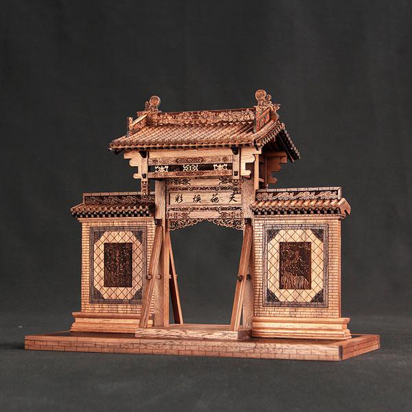 垂花门古建筑,高档中国风送外国朋友礼物