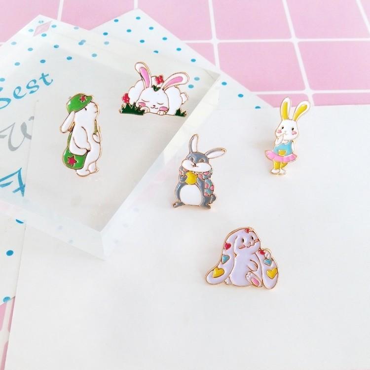 萌萌哒可爱日系甜美小兔子趣味少女学生服饰配饰胸针领针