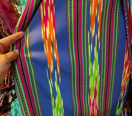 乌孜别克布料乌孜别克族特色艾德莱斯丝绸布料宽幅一米50cm图片
