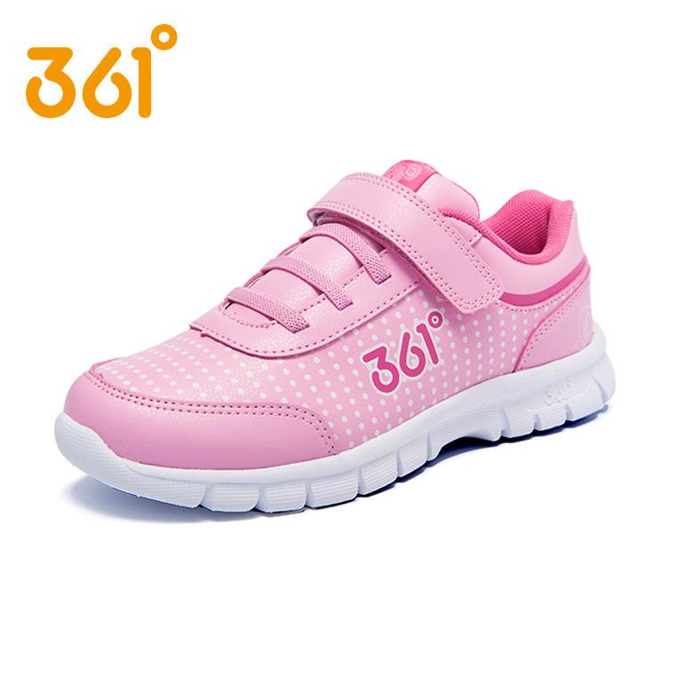 361童鞋女童 鞋2016 兒童學生皮麵跑鞋中大女童鞋361跑鞋