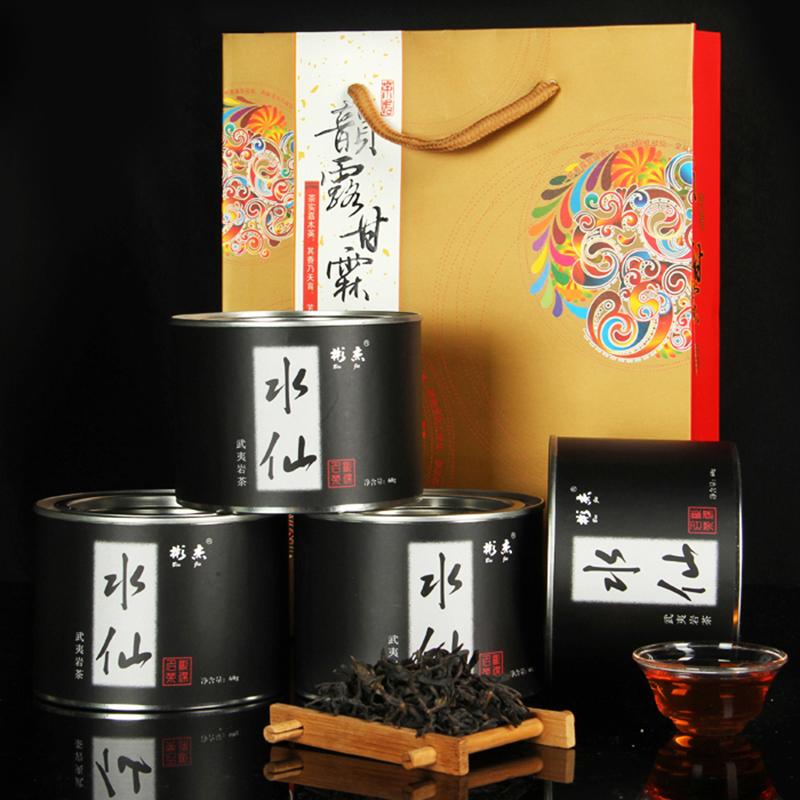 彬杰茶业买1罐送3罐福建省武夷岩茶浓香老枞水仙乌龙茶中秋送礼物