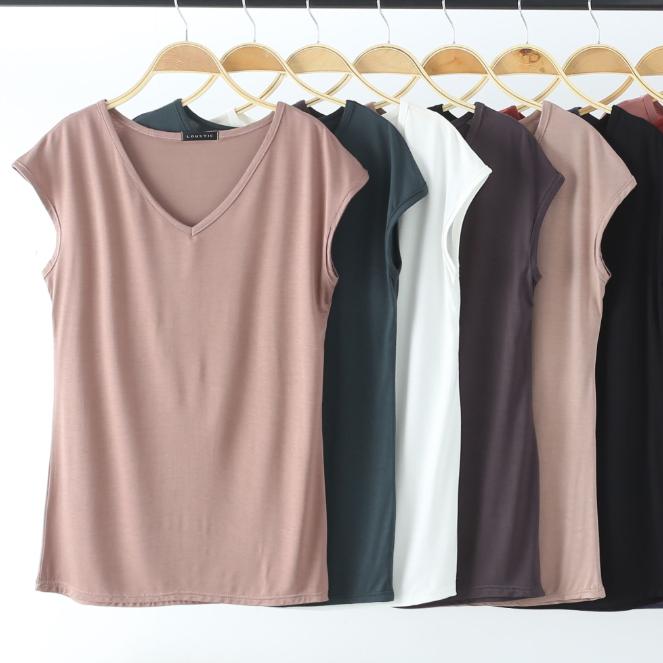 2019新品莫代尔t恤短款宽松打底衫热销1241件限时2件3折