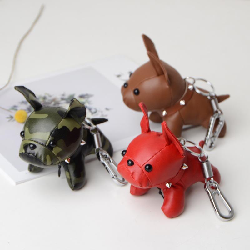 2020饰品配件法国斗牛犬挂件钥匙扣包包吊坠仿真皮饰品法斗犬玩偶