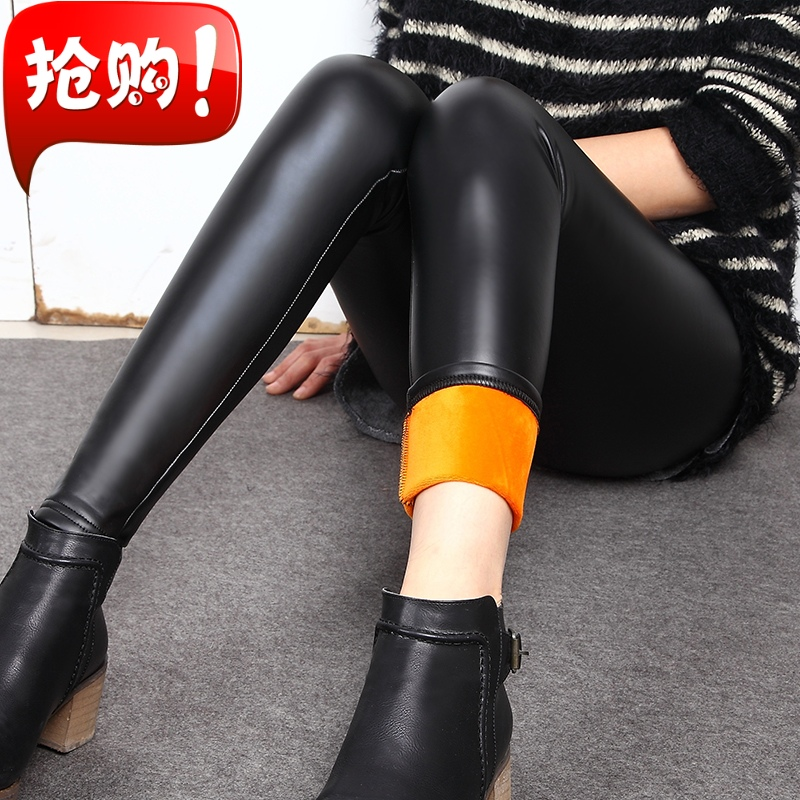 Imitation leather pants womens thin outer wear matte leather pants slim Leggings spring and autumn summer pants tight Leggings women