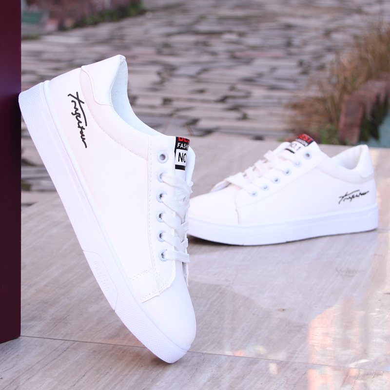 2018春季新款小白鞋子男士休闲鞋韩版潮流男鞋百搭潮鞋白色板鞋男
