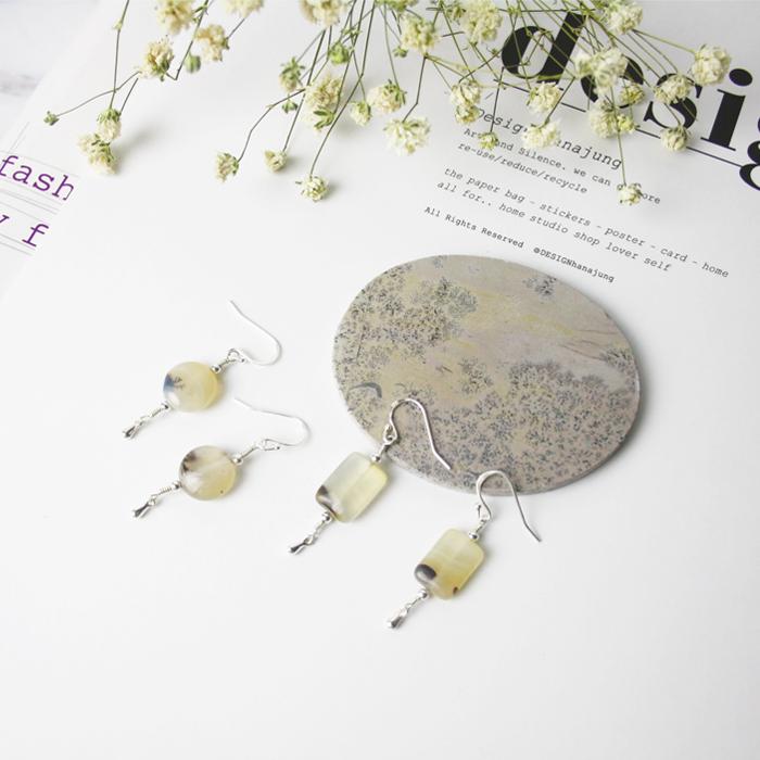 手工定制 天然玛瑙925纯银耳环耳坠 独家原创设计