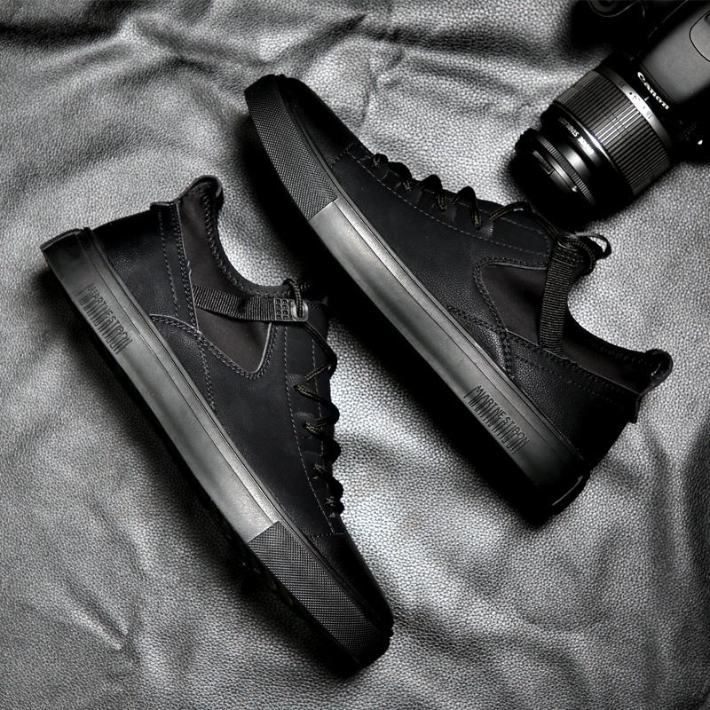 欧洲站男鞋冬季潮鞋2020新款韩版潮流百搭板鞋英伦内增高休闲皮鞋图片