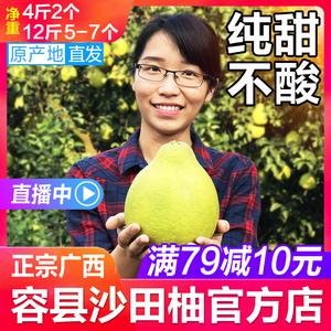 广西特产正宗容县沙田柚新鲜柚子水果沙田柚子12斤包邮非梅州金柚